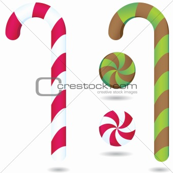 Candy canes and Peppermints