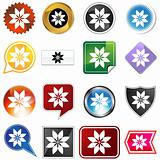 Multiple Buttons - Poinsettia