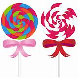 Lollipop Candy with Ribbons