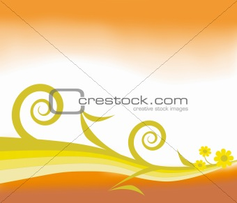 Abstract orange and yellow design