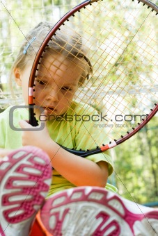 Little tennis player