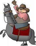 Waving Cowboy