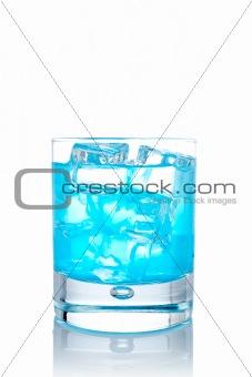 Blue paradise cocktail