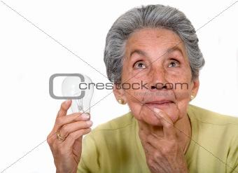 elder creative woman