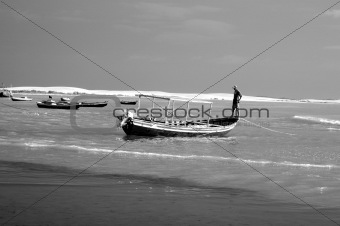 Fishing Boats and dunes