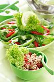 Healthy food, salad with tunny