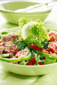 Healthy food, salad with tunny