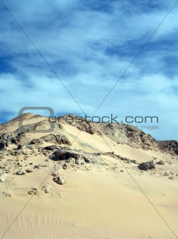 Landscape of desert and sky