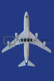 aircraft on blue