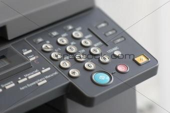 alpha-numeric keyboard of copier