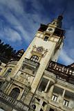 Picturesque view on beautiful Peles castle
