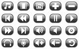 Glossy multimedia icons