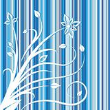 Floral design on pinstriped background