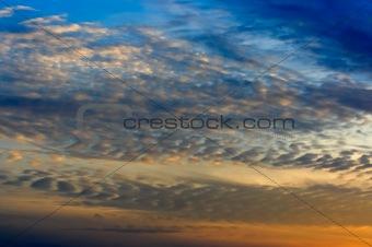 Sky and Altocumulus Clouds