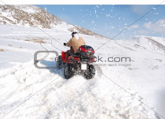 Quad drift in snow