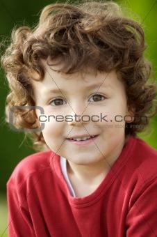 adorable happy boy smiling