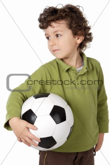 adorable boy with a ball