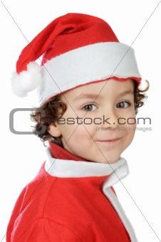 Adorable boy in christmas