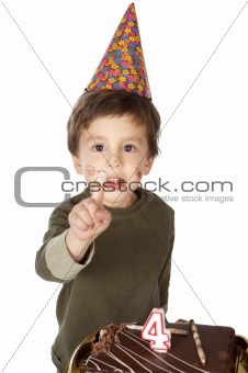 adorable kid celebrating his birthday