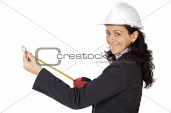 Attractive lady engineer