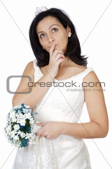 attractive lady thinking if it takes marriage