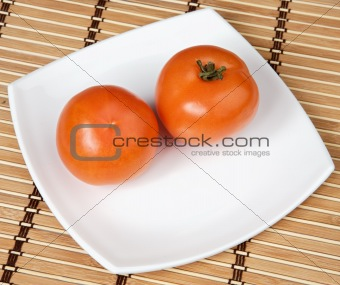 Tomatoes in a plate