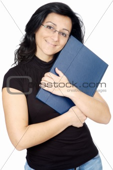 Attractive lady loving a book