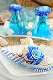 Table setting in maritime style