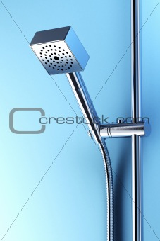 stainless steel shower 3d