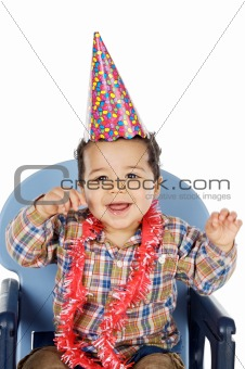 adorable boy celebrating your birthday