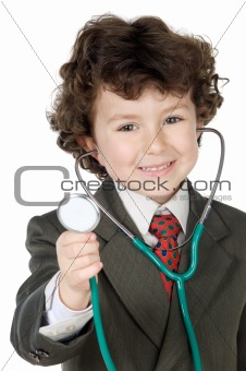 Adorable future doctor