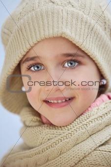 precious face of an adorable girl