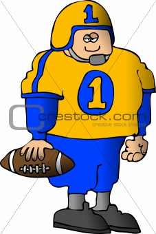 Boy In A Football Uniform