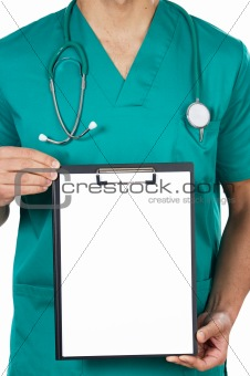anonymous doctor whit notepad