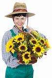 woman dressed gardener