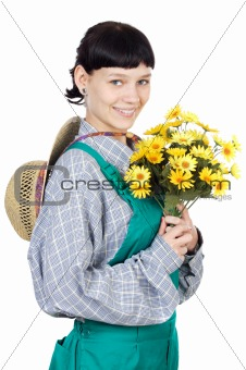 attractive lady gardener