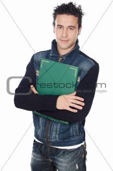 attractive boy student