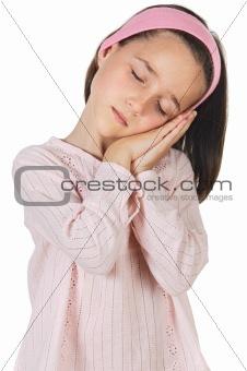 sleeping lovely girl