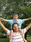 Boy on Mans Shoulders
