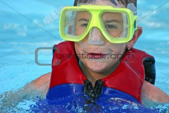 Boy with Goggles On