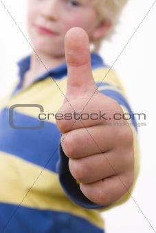 little boy, thumbs upp