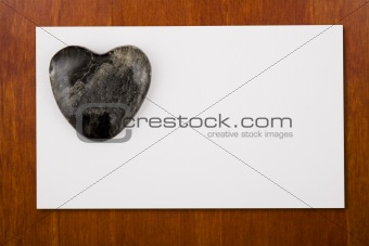 Blannk Card with Stone Heart