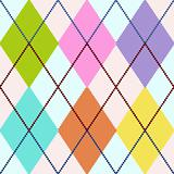 Vector colorful argyle