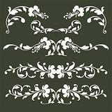 Collection of vector floral borders