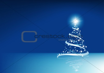 Blue Abstract Christmas