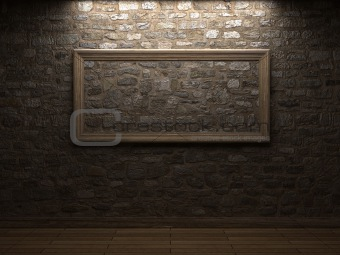 masonry wall with wood frames