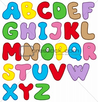 Cartoon alphabet