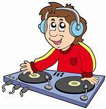 Cartoon DJ boy