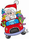 Santa Claus driving car