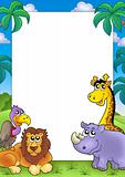 African frame with animals 3